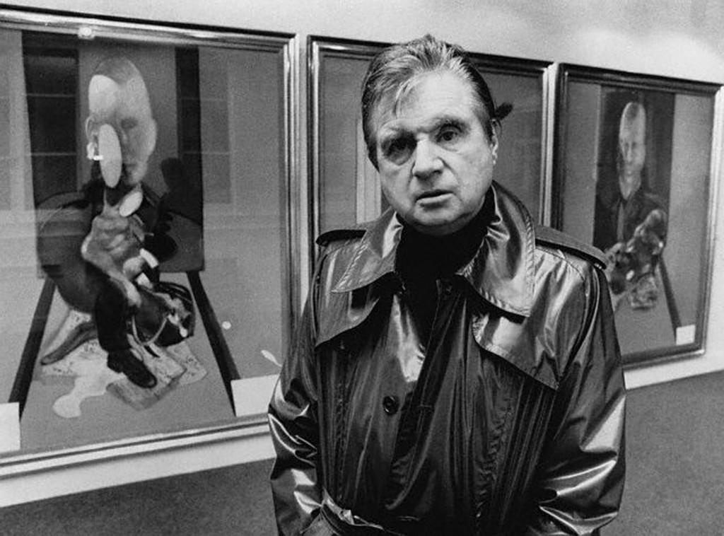 Francis Bacon delante del autorretrato