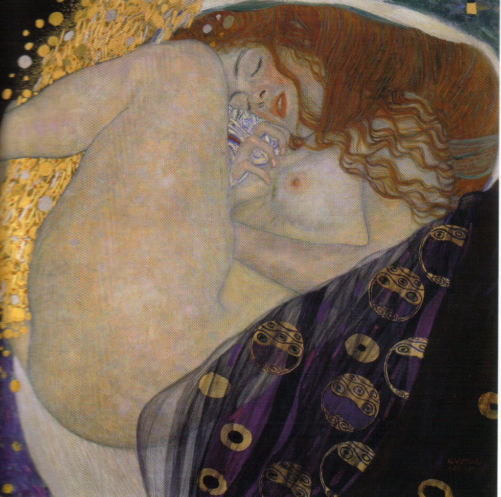 Danae, Gustav Klimt. Tomada de: http://goo.gl/I0DTzC