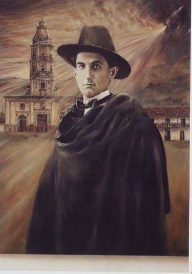 Óleo de Ciro Mendía del artista Dorian Flórez