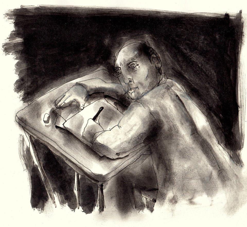 Dibujo de Miguel Rubial, tomado de: http://goo.gl/aJsMKg.