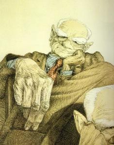 Tullio Pericoli: Alberto Moravia