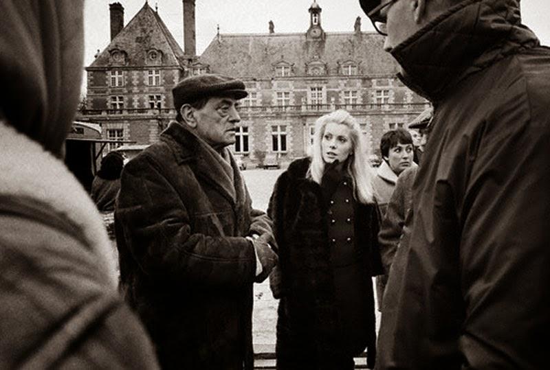 Luis Buñel y Catherine Deneuve en el rodaje de Belle de Jour