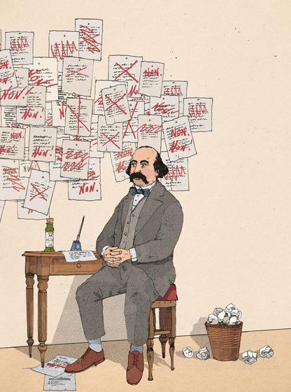 El oficio del escritor| Gustave Flaubert ilustrado por Wesley Merritt: Début Art