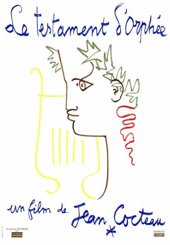 El testamento de Orfeo, dibujo y afiche de un genial director. Tomado de: FilmAffinity.