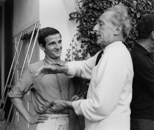 Jean Cocteau y Francois Truffaut: dos grandes y buenos amigos.