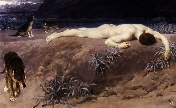 Hector Lying Dead. Briton Riviere. British. 1840-1920. Oil on canvas. Tomado de: