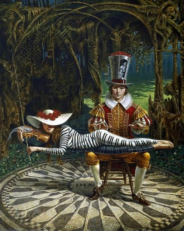 "Michael Cheval: ""Imagine"" LE Giclee on Canvas  30"" x 24"""