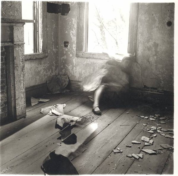 George and Betty Woodman. |  Francesca Woodman: House #3, Providence, Rhode Island, 1976.