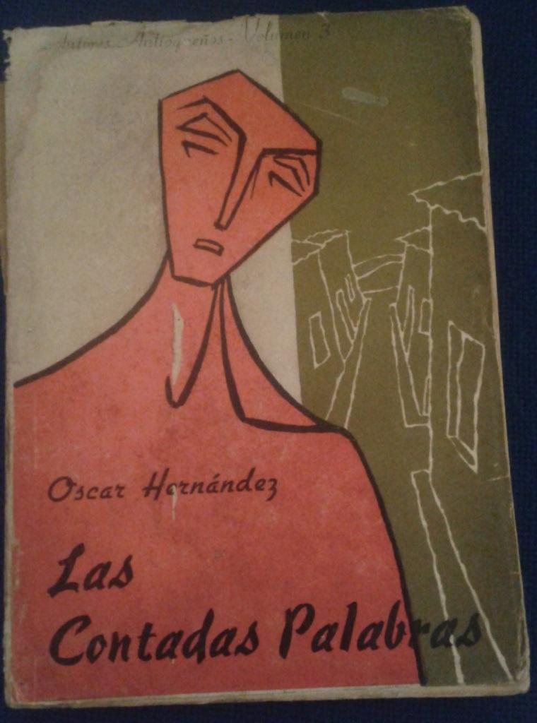 Óscar Hernández, carátula de Las Contadas Palabras en literariedad.co