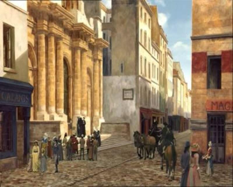 Rohmer pinta con su tomavistas digital los escenarios naturales del siglo XVIII. Inspirado en la pintura de la época, digitaliza paisajes en los que incluye a los actores reales, conservando la coherencia estética y ambiental, al tiempo que eleva su creación a una auténtica obra de arte. En secuencias de gran belleza plástica, se fusionan los personajes con los cuadros de las calles del París del siglo XVIII pintados para aquella ocasión.