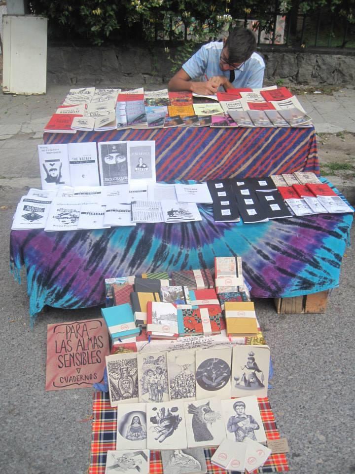 Vil Ediciones en la última Feria del Libro Independiente que se desarrolló en Quito. Foto de su archivo particular.