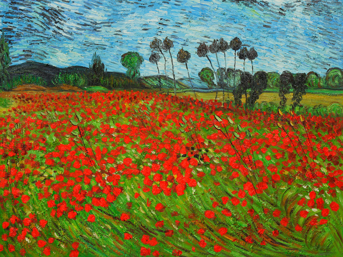 Field of Poppies by Vincent Van Gogh.