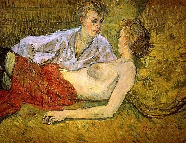 Reflejó los ambientes marginales en que vivió: salones de bailes, burdeles, vida galante... De forma paralela al itinerario que Baudelaire recorrió en la literatura, Toulouse-Lautrec protagonizó una especie de descenso de la pintura a los infiernos.