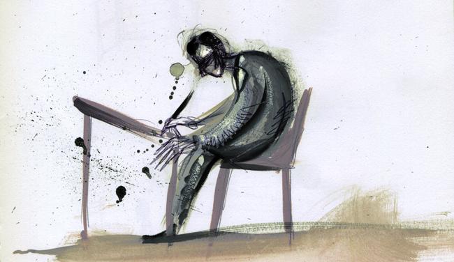 Bartleby. Ilustración de Helena Pérez García. (Tomada de: http://www.skjohannesen.com/2015/02/bartleby/).