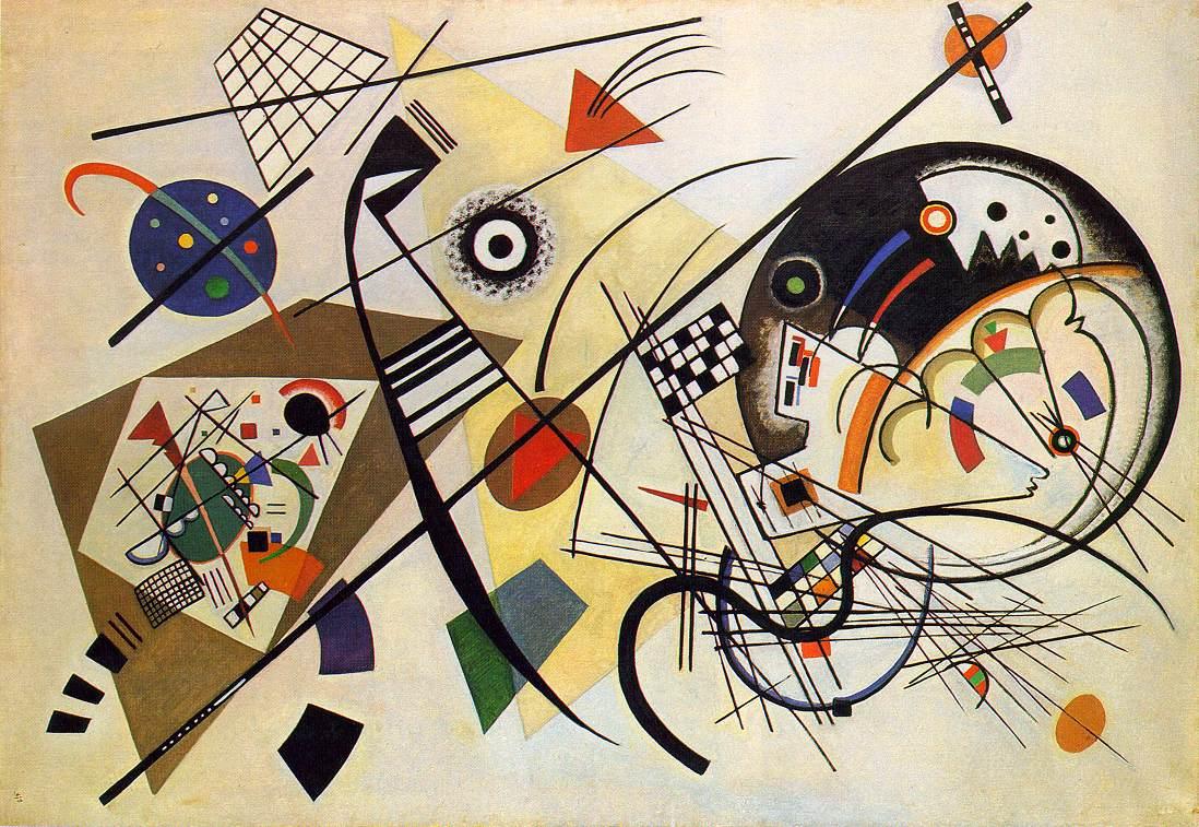 Kandinsky: Transverse lines. (Foto: diariodecultura.com.ar).