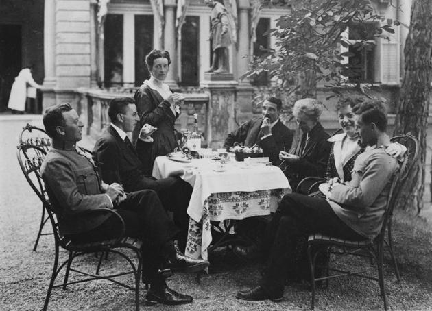 La familia Wittgenstein en Viena en 1917.