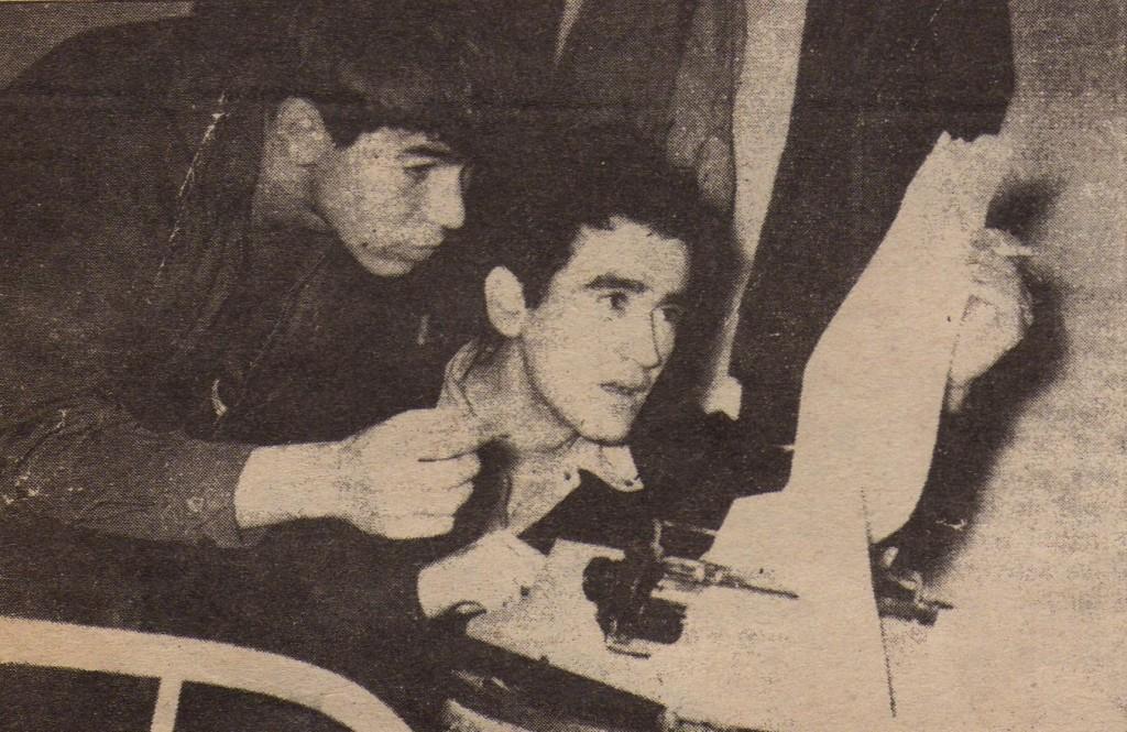 Amílcar Osorio con Gonzalo Arango