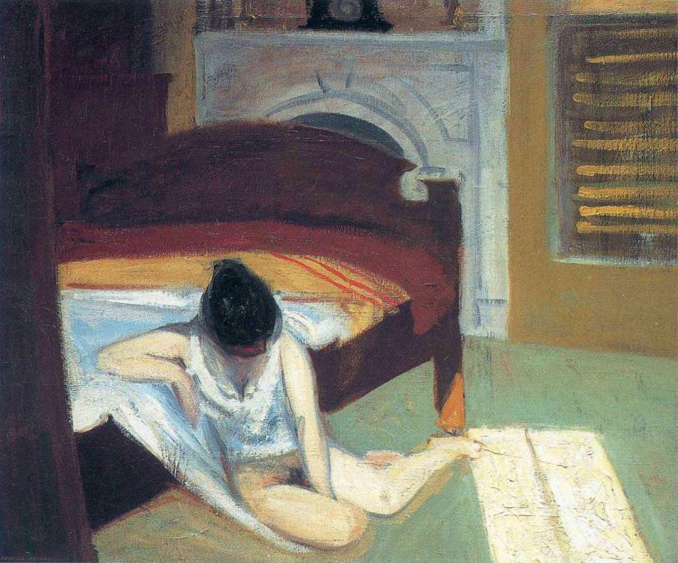 Summer Interior, 1909 por Edward Hopper (edwardhopper.net).