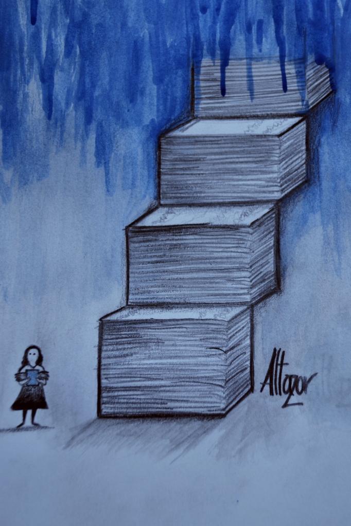 Ilustración de Altazor Ataraxia para Literariedad.