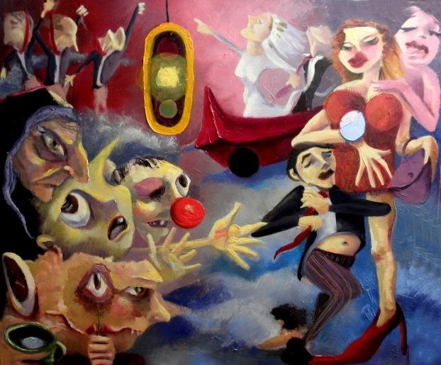 Pintura de Matilde Quiroga Taborga, artista boliviana.