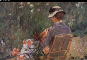 Después de once años de completa inactividad artística debido a su ceguera, murió en Château de Beaufresne, París, el 14 de junio de 1926; fue enterrada en un mausoleo en Le Mesnil-Théribus.