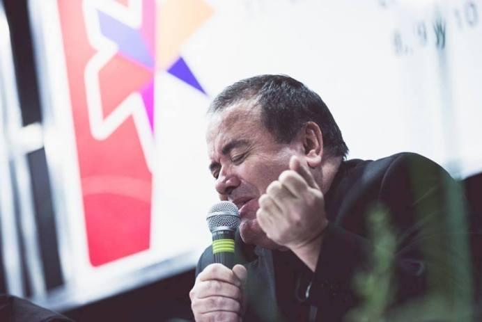 Ricardo Rojas Ayrala en la Feria del Libro de Buenos Aires 2015.