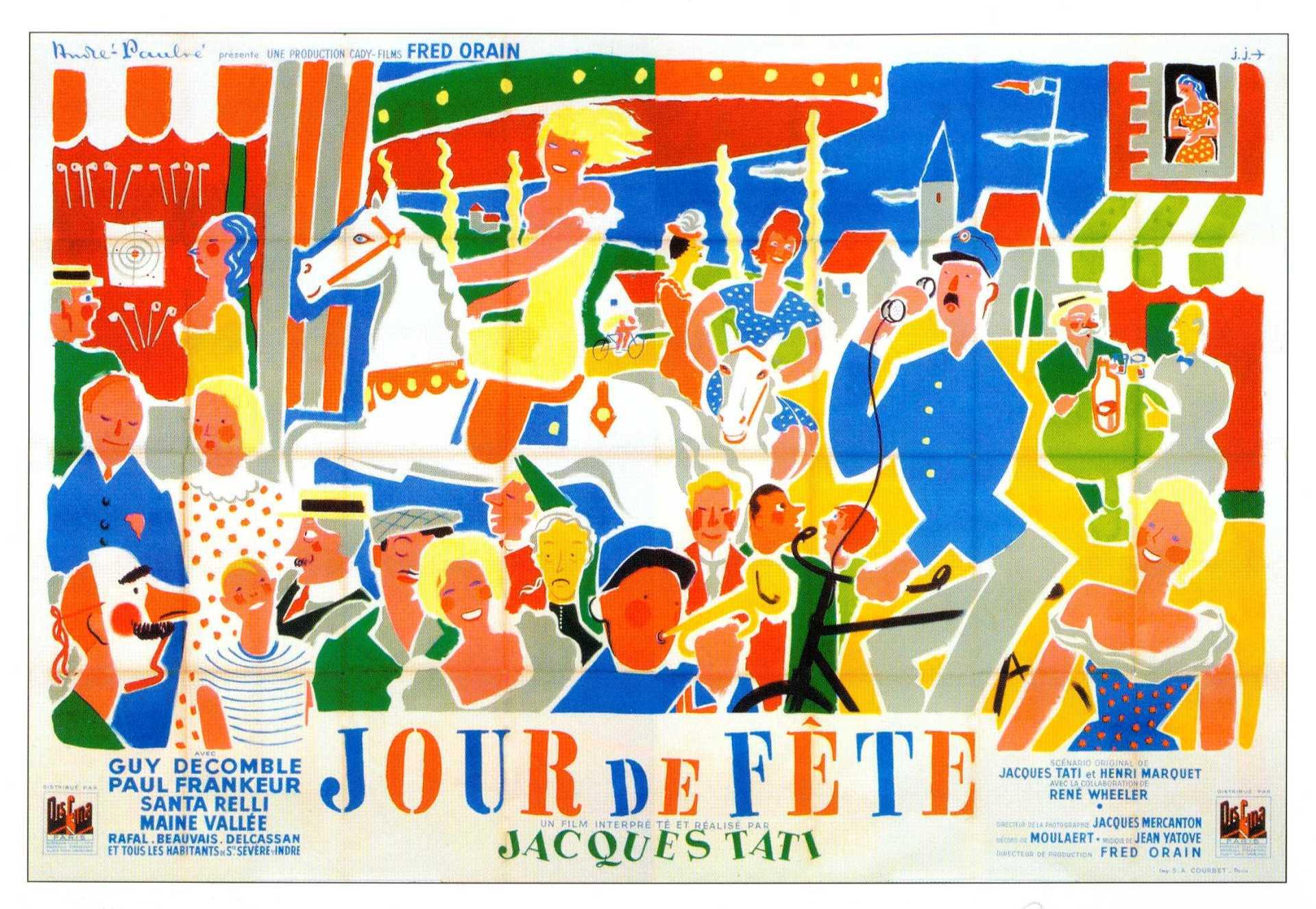 Hizo falta un cúmulo de casualidades y el trabajo obsesivo de dos personas durante cinco años para llegar al instante del prodigio: en la toma 70/3ª el gorro del cartero era rojo, la barra del bar era azul y las guirnaldas eran lilas. La leyenda era cierta: Jacques Tati había hecho en 1947 dos copias de su película, una en blanco y negro y la otra en color.Hizo falta un cúmulo de casualidades y el trabajo obsesivo de dos personas durante cinco años para llegar al instante del prodigio: en la toma 70/3ª el gorro del cartero era rojo, la barra del bar era azul y las guirnaldas eran lilas. La leyenda era cierta: Jacques Tati había hecho en 1947 dos copias de su película, una en blanco y negro y la otra en color.