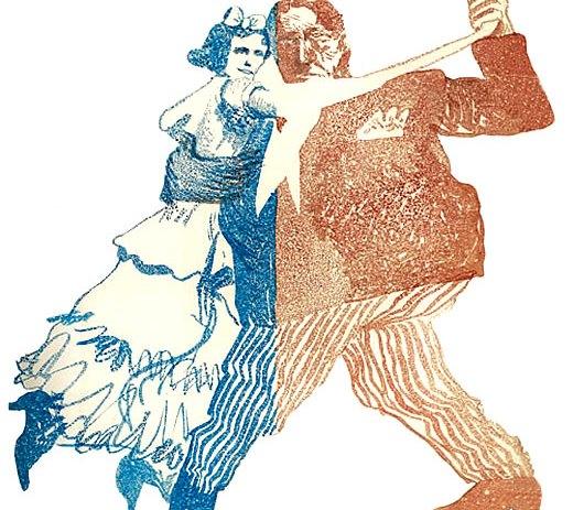 Tango. Ilustración de Hermenegildo Sábat