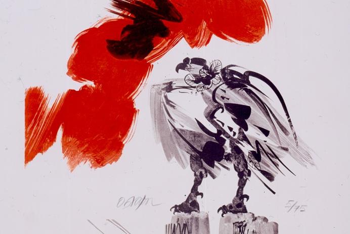 Pintura de Alejandro Obregón. Sin título (banrepcultural.org).
