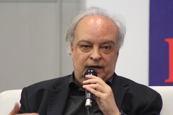 Enrique Vila-Matas en la Filbo 2017. Foto: Sara Gaviria Piedrahíta.