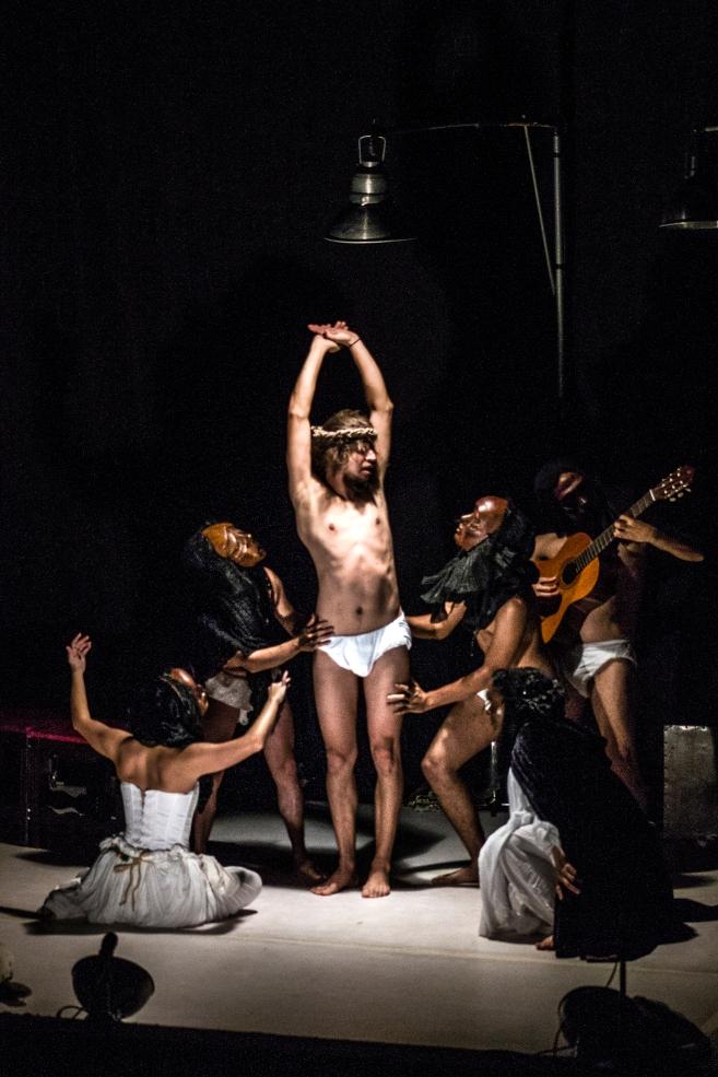 Foto: Andrés Felipe Rivera. «Quijote. Espejo del hombre». Agrupación Tropa Teatro. IX Muestra de Teatro Alternativo de Pereira, 20 de julio de 2017.