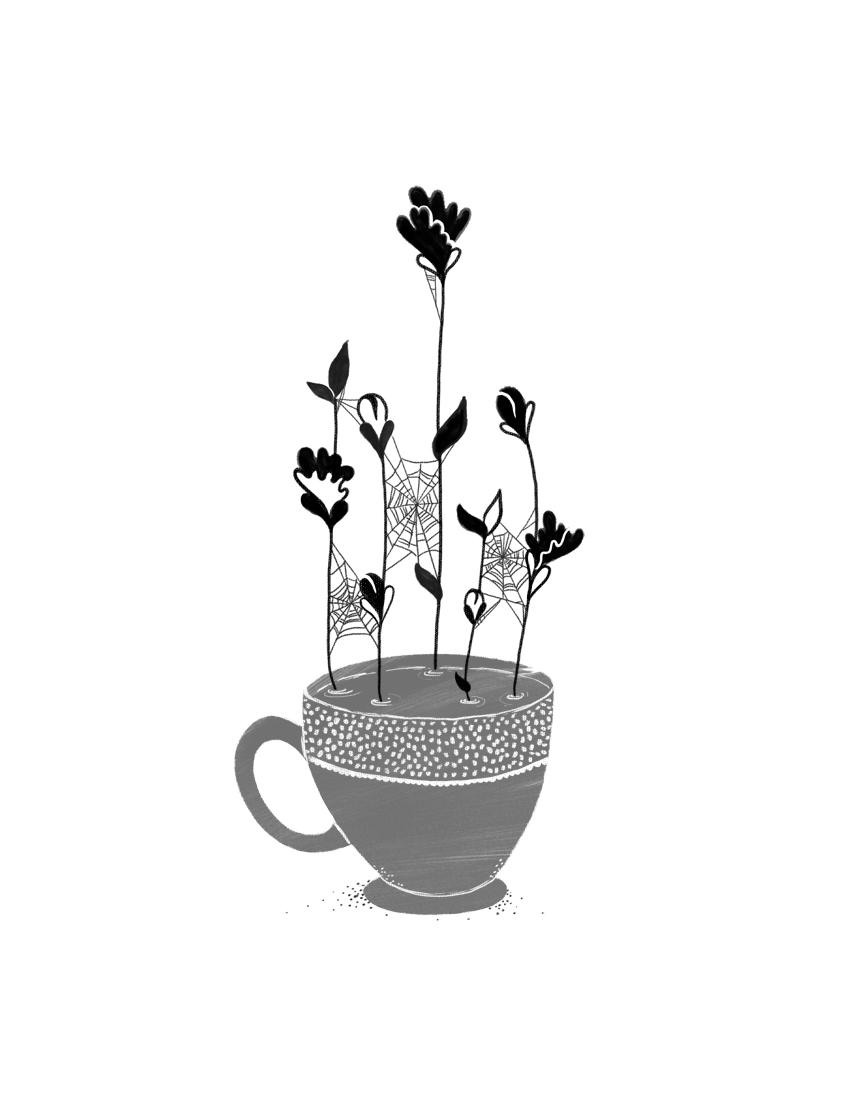 Ilustración de Juliana Arboleda para Fragmentaria de Violeta Villalba, Revista Literariedad