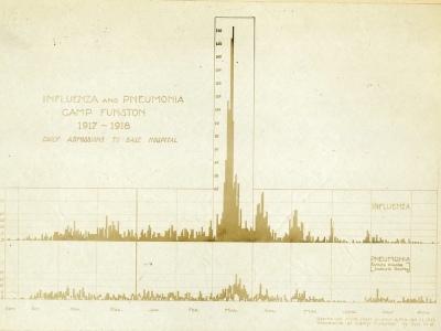 Gráfico de influenza y neumonía